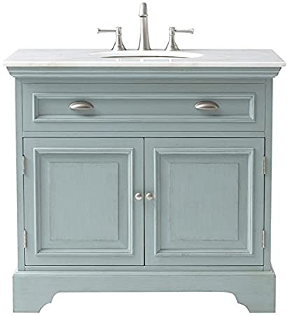 "Sadie Single Bath Vanity, 35""Hx38""Wx21.5""D, ANTIQUE - Amazon.com: Sadie Single Bath Vanity, 35"