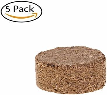 Lunji Quelltabs Anzuchttabs Aussaaterde Anzuchterde Torftablette, Coconut Fiber Coir Pellet Nährboden, 5 Stck, Ø 40 mm