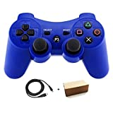 Kolopc Wireless Bluetooth Controller For PS3 Double Shock - Bundled with USB charge cord