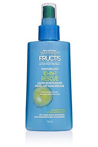 Garnier Hair Care Fructis Moisture Lock 10-in-1 Rescue Leave-In Spray, 5.0