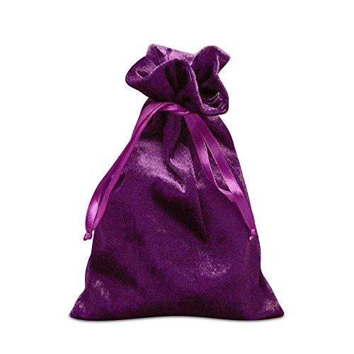 Beautiful Superior Quality Luxurious Velvet Bags -Tarot Card Size 6 X 9 (Purple, 20 Bags)