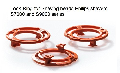 Lock-Ring (Retaining-Plate, Holder) for Philips Shaving Heads Model/Type SH70 and SH90 (Colour Orange) for Shaver Series S 7000 & S 9000