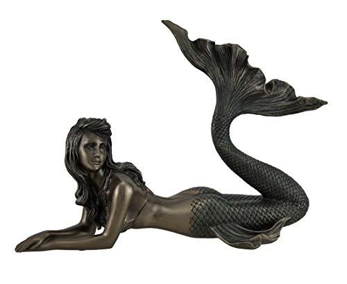 Veronese Mermaid Lying Down Statue Sculpture Nautical ()