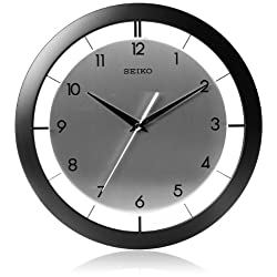 Seiko 11 Brushed Metal Wall Clock