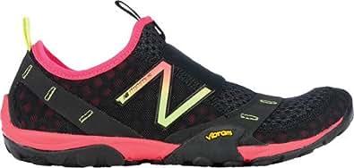 New Balance Women's Minimus 10 Trail,Black/Pink,US 5 D