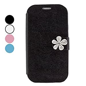 hao Fashion Rhinestone Flower Design PU Leather Case for Samsung Galaxy S3 I9300 (Assorted Colors) , Pink