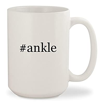 #ankle - White Hashtag 15oz Ceramic Coffee Mug Cup