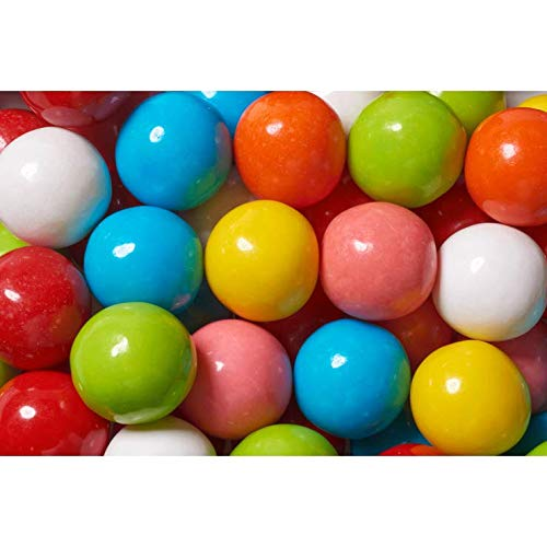 1 INCH 850CT ASSORTED BUBBLE KING GUMBALLS For Vending Machines, Multi Flavor by OAKLEAF Brand! - Gluten Free, Nut Free, KOSHER