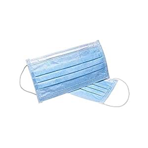 50pcs Medical Grade 3 Ply Disposable Premium Surgical Face Mask Ear Loop Blue Latex Free Anti Dust Fog