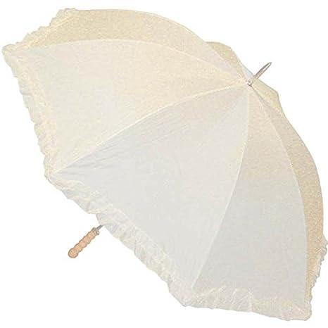 AC1303//BLANC Chaks Ombrelle mariage blanche 125 cm diam