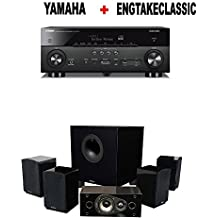Yamaha AVENTAGE RX-A680 7.2-ch 4K Ultra HD AV Receiver with HDR + Energy 5.1 Take Classic Home Entertainment System (Set of Six, Black) Bundle