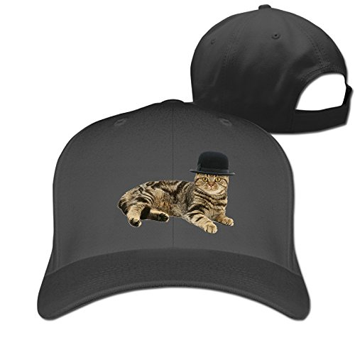 Men Women British Shorthair Brown Tabby Cat Wearing A Bowler Hat Sun Outdoor Sport Cotton Snapback Hat Multi Colors