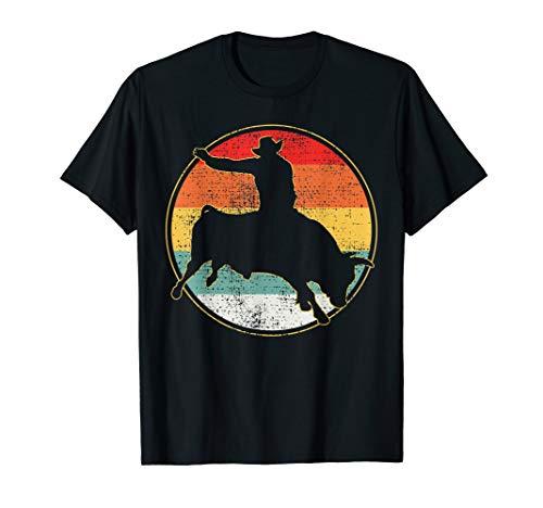 Bull Riding T-Shirt Cowboy Tshirt Western Tee Gift Vintage