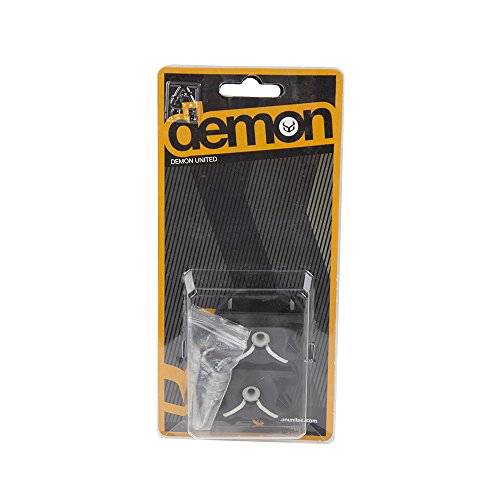 Demon Wedge Snowboard Wall Mounts Black Combo pack (2 Pairs Hangs 2 Snowboards)
