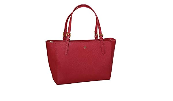 2867778d6c40 Amazon.com  Tory Burch Emerson Small Buckle Tote Bag Luggage 49127 (Kir  Royale)  Shoes