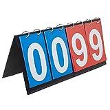 GOGO 4-digital Portable Table Top Scoreboard/Score Flipper 0-99