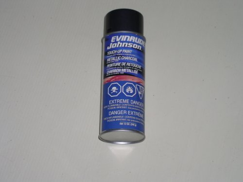 OEM BRP OMC Johnson Evinrude 1985 Metallic Charcoal Touch-Up Spray - Paints Oem