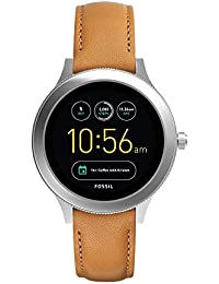 Women's Gen 3 Venture Stainless Steel and Leather Touchscreen Smartwatch, Color: Silver, Brown (Model: FTW6007)