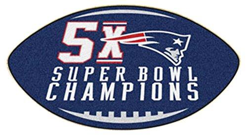 Fanmats 22274 NFL New England Patriots Super Bowl Football Rug - Nfl Rug Team Tufted