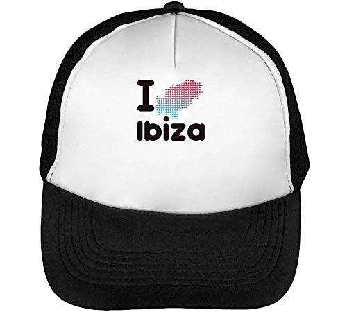 Hombre Blanco I Snapback Gorras Map Negro Ibiza Beisbol 8nwzqvR