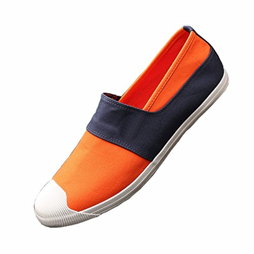 Pedale di Scarpe Corrispondenza Estiva LIUXUEPING Stoffa da Scarpe Corrispondenza Tela Scarpe Scarpe Nuovo Stile dei Aiuto da Scarpe Stagione Colori Orange Colori Marea di Maschi Casual Basso Uomo Un dei qPT8XxwP