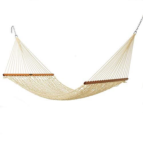 - Original Pawleys Island 12DCOT Single Duracord Rope Hammock, Oatmeal