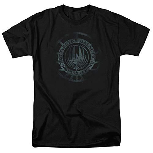 Popfunk Battlestar Galatica Faded Logo T Shirt (Large) Black