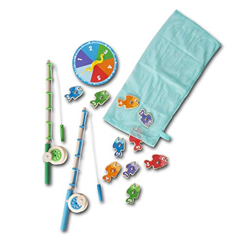 Melissa & Doug Catch & Count Wooden Fishing Game (Developmental Toy, 2 Magnetic Rods, Great Gift for Girls and Boys - Best for 3, 4, and 5 Year Olds) from Melissa & Doug