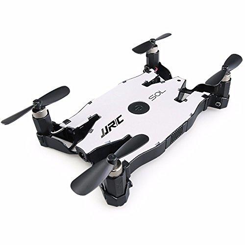 JJRC Drone H49 Ultra Delgado y Plegrable - Cámara HD WiFi con Transmisión en Vivo y Beauty Mode, One Key Return, Control de Altitud, Compatible con iOS y Android; Blanco