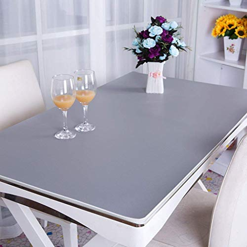 LUHEN Home Tablecloth, Hotel Round Tablecloth,Sx-BBF PVC Tablecloth, Desk Mats Office Desk Mats Computer Table Mats Business Case Desk Mats Operator Station 2.8Mm Tablecloth