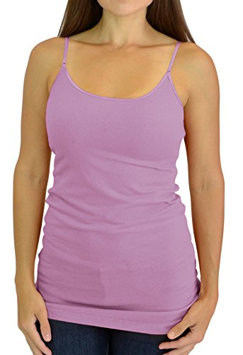 Belle Donne Cami Camisole Adjustable Spaghetti Strap Tank Top for Women and Girls Lavender Small (Girls Spaghetti Strap Shirt)