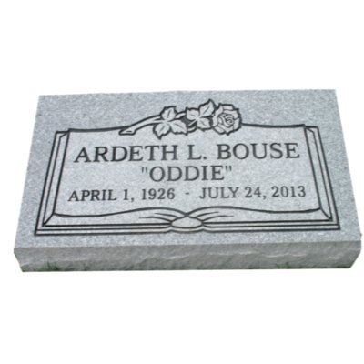 Cemetery marker headstone monument- engraving included -