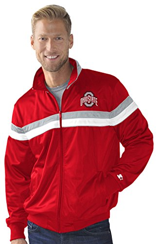 (STARTER NCAA Ohio State Buckeyes Men's Heritage Track Jacket, Large, Red )