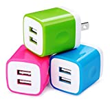 USB Wall Charger, Charging Plug HopePow 3-Pack USB 5V/2.1A...