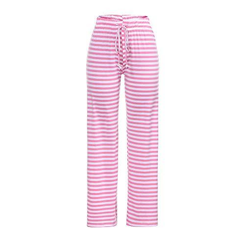 Lache Rayures Taille Pants Haute Rose Yoga lastique Casual Pantalons de SANFASHION Danse qaZFAF