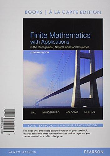 Finite Mathematics W/Appl.(Ll) W/Access