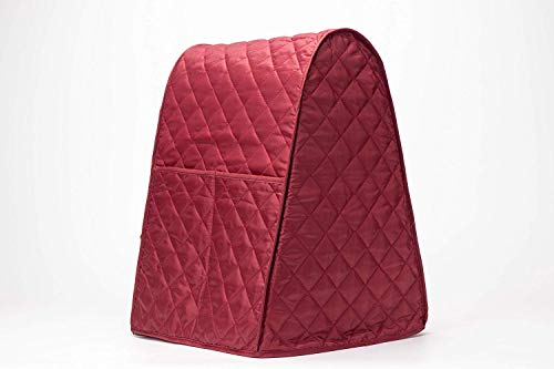 Stand Mixer Cover, Dust-proof Organizer Quilted Kitchen Mixer Protector, Anti Fingerprint Mixer Covers Fits All Tilt Head & Bowl Lift Compatible 4.5-6 Quart Models CYFC270 Red