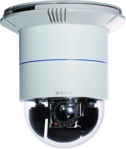 D-Link Indoor Surveillance Camera, Dome IP 12x Optical Zoom Speed Adjustment, 360 Panning, Night Vision, 2 Way Audio 3GPP Support Security Network DCS-6616