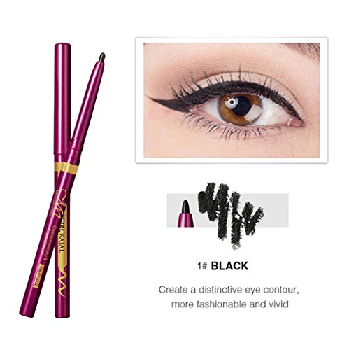 Hunputa Beauty Women Waterproof Eyeliner Liquid Eye Liner Gel Pen Pencil Quick-Dry Makeup Cosmetic (Black)