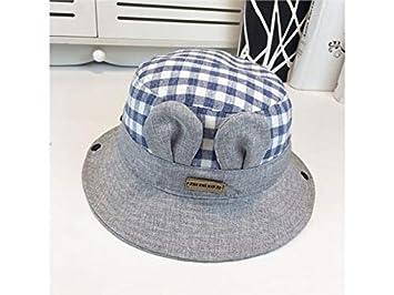 92762e56566 Amazon.com   Yuchoi Sun Kids Ear Plaid Sun Visor Sun Protection Hat  Children Packable Soft Bucket Cap for 1-3 Years Old(Red)   Beauty