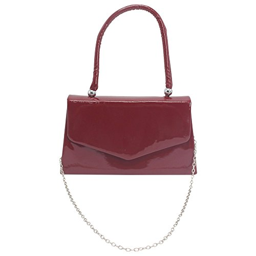 Handle Clutch Ladies Desgin Classic Black Handbag Envelope Cckuu Party Purse Burgundy Evening Wedding 68wqdEd