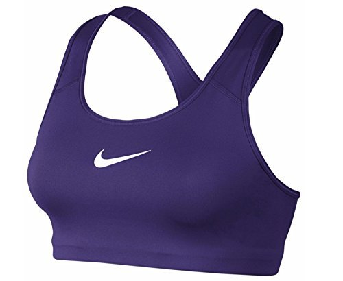 Nike Womens Pro Classic Swoosh™ Sports Bra Court Purple/White MD
