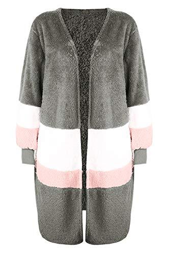 Mode Cardigan Streetwear Manteau Oversize Polaire Veste Hiver XqwIHxw1AO