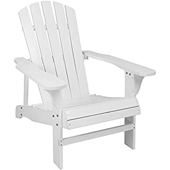 Amazon Com Classic White Painted Wood Adirondack Chair