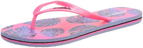 ONeill FG Moya Plus Flip Flops, Chanclas Para Niñas Weiß (1940 White AOP W/Pink-Purple)
