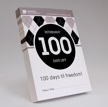100-day Countdown to Retirement Tear Off Calendar by Creative Countdown