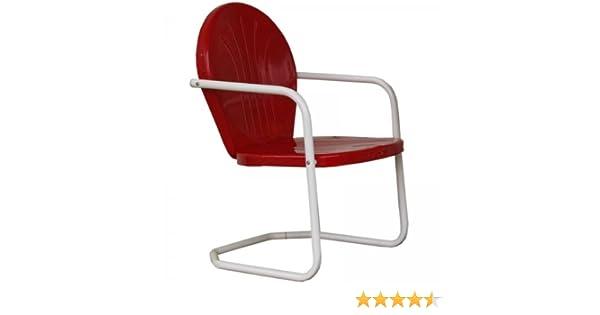 Amazon.com : Torrans Tmcred Thunderbird Metal Lawn Chair   Red : Garden U0026  Outdoor