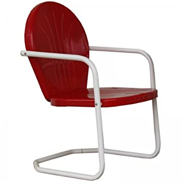 Torrans tmcred Thunderbird Metal Lawn Chair – Red