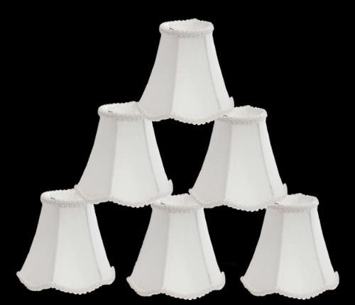 Urbanest 1100255c Scallop Chandelier Mini Shade 6-inch, Clip On, Off White Set of 6