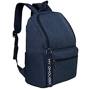 Backpack for Men and Women Unisex, OMOUBOI 14 Inch Waterproof Laptop Boys/Girls School Book Bag for Travel, Outdoor Camping, Traveling, Work, Business, College, Lightweight Slim Durable - Blue
